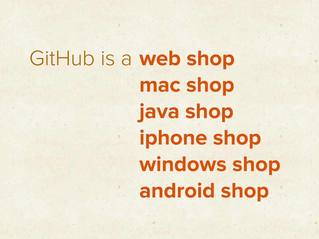 GitHub is a web shop mac shop java shop iphone ...
