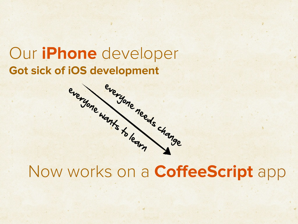 Our iPhone developer Now works on a CoffeeScript...