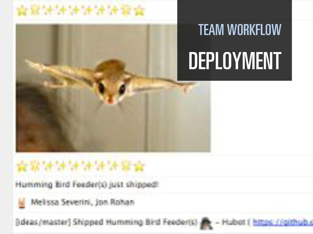 TEAM WORKFLOW DEPLOYMENT
