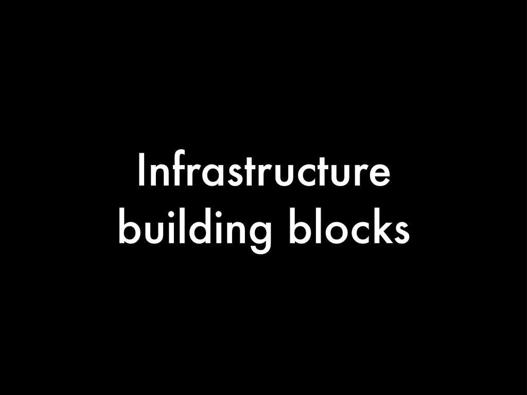 Infrastructure building blocks