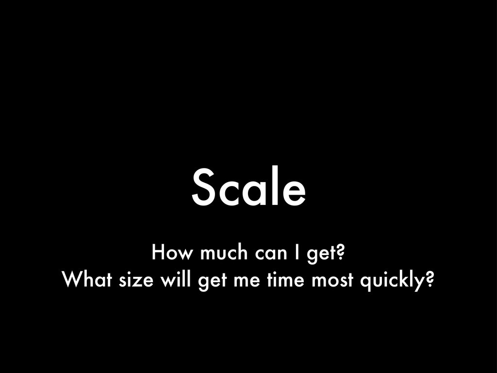 Scale How much can I get? What size will get me...