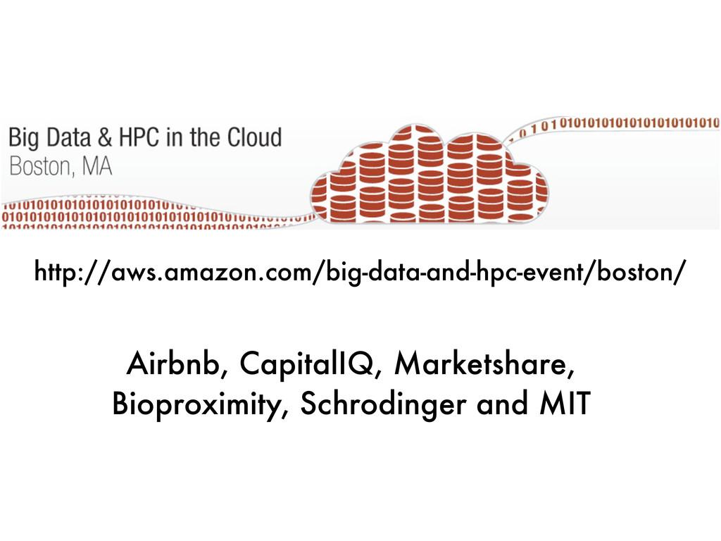 Airbnb, CapitalIQ, Marketshare, Bioproximity, S...