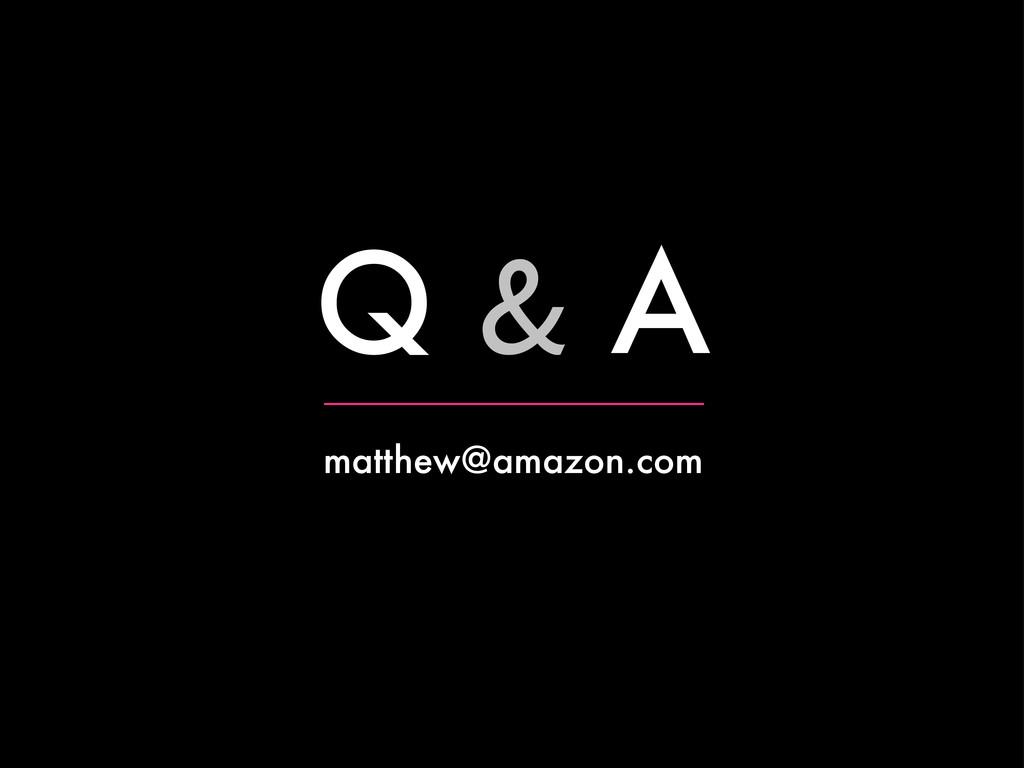 Q & A matthew@amazon.com