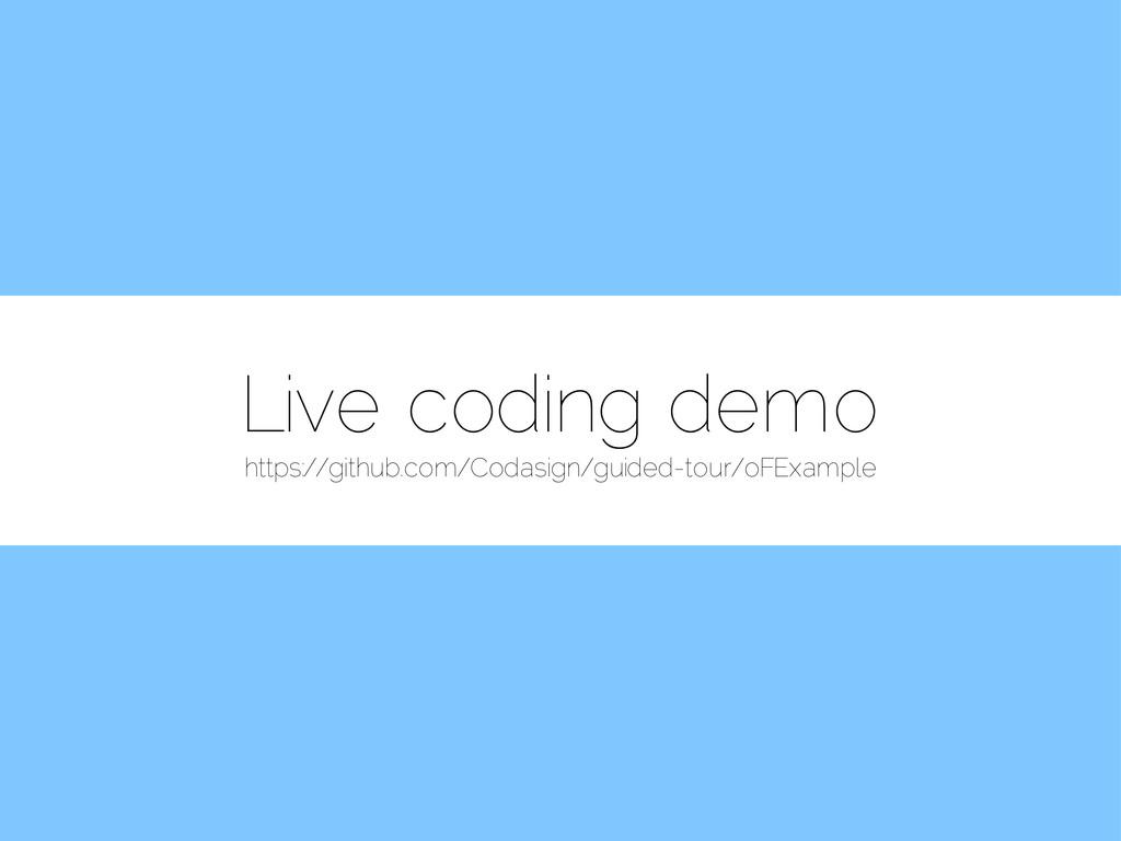 Live coding demo https://github.com/Codasign/gu...