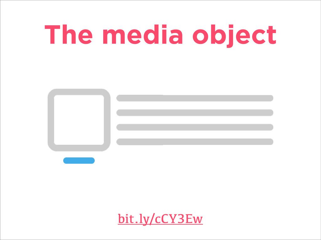 The media object bit.ly/cCY3Ew