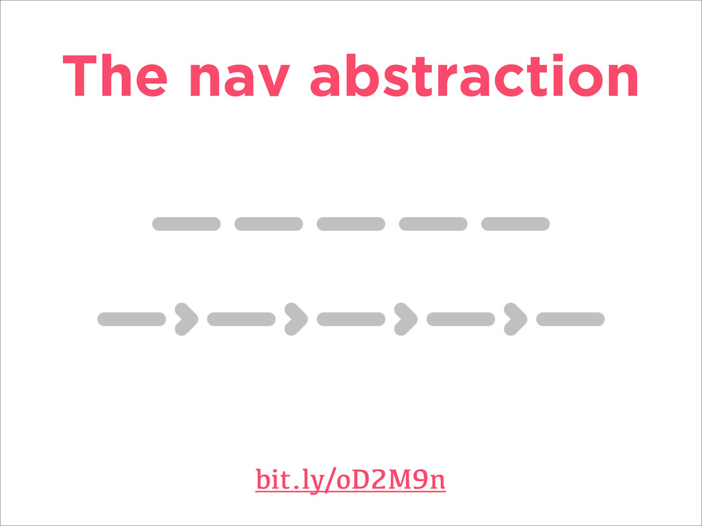 The nav abstraction bit.ly/oD2M9n