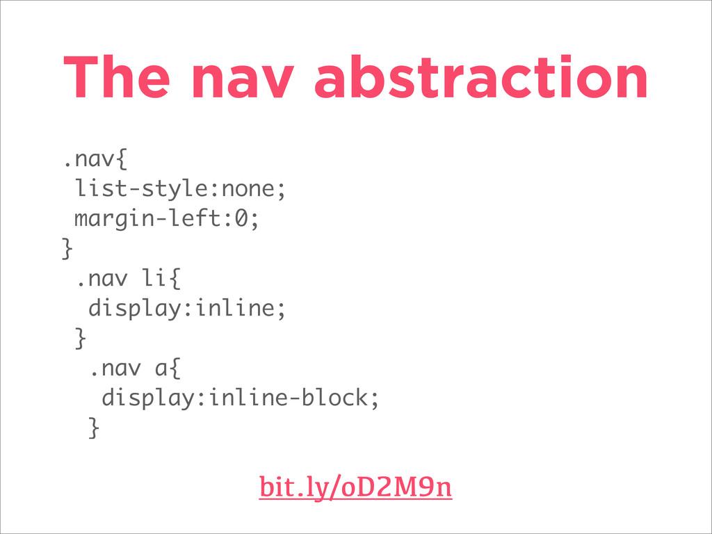 .nav{ list-style:none; margin-left:0; } .nav li...