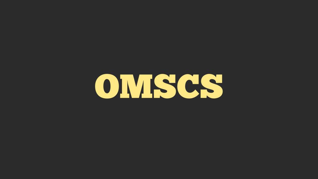 OMSCS