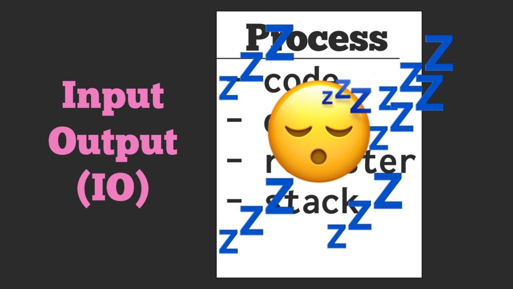 Process - code - data - register - stack      I...