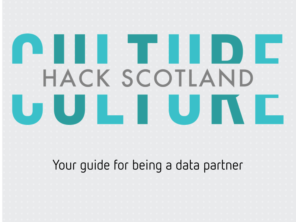 Your guide for being a data partner