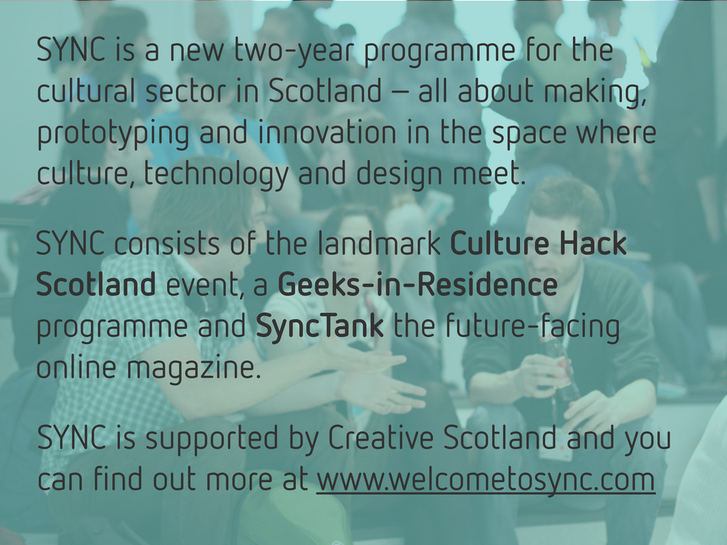 SYNC is a new two-year programme for the cultur...