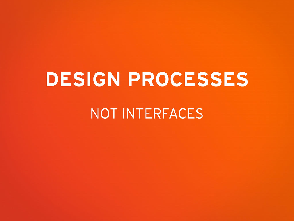 NOT INTERFACES DESIGN PROCESSES