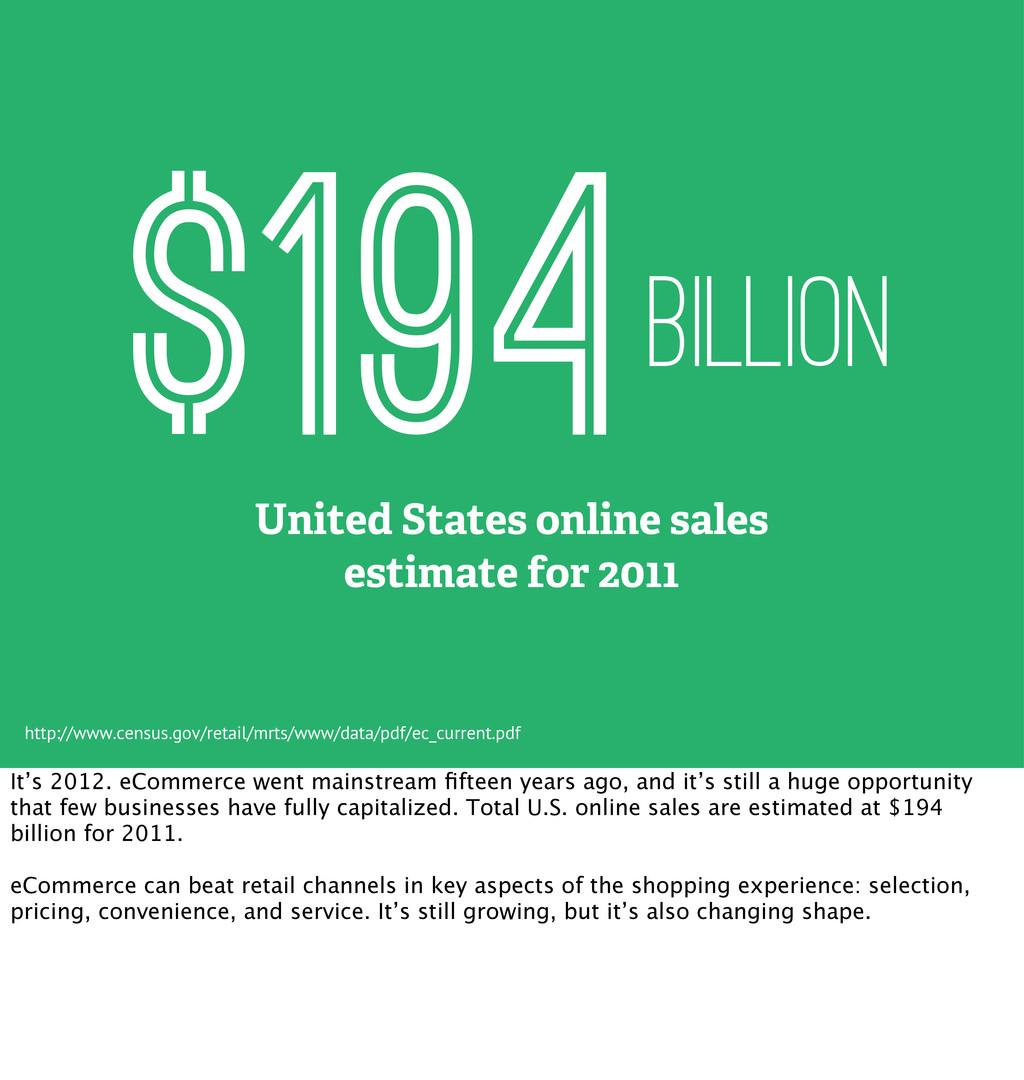 BILLION $194 United States online sales estimat...
