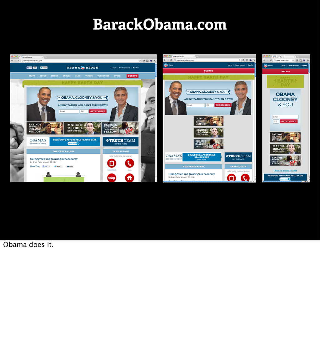 BarackObama.com Obama does it.