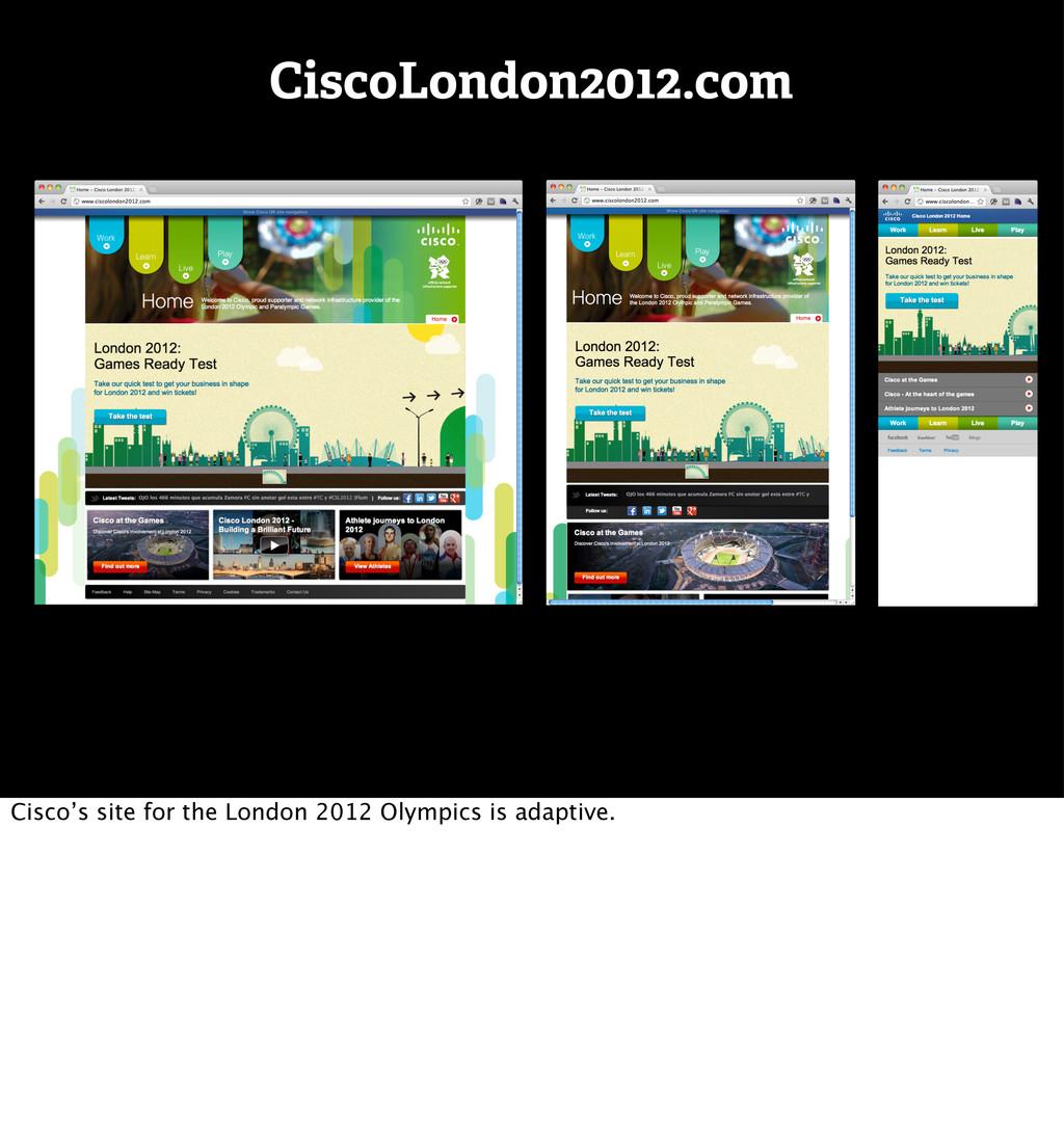 CiscoLondon2012.com Cisco's site for the London...