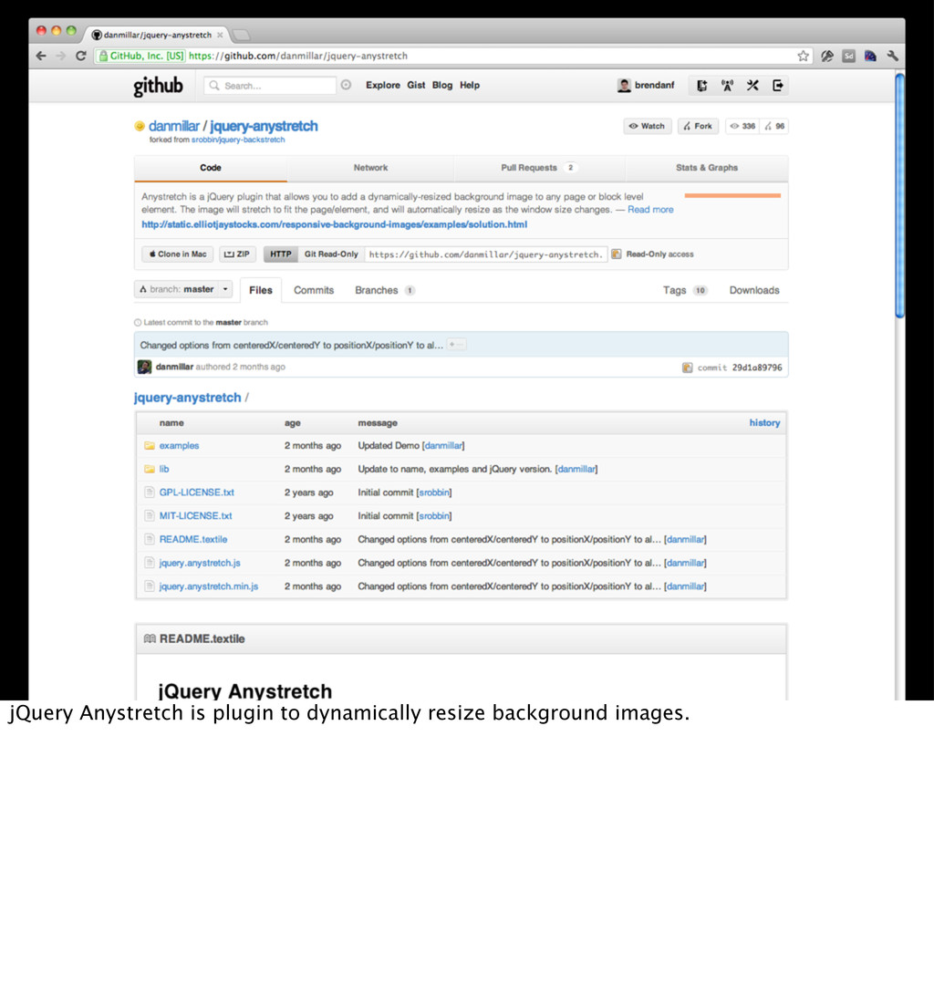 jQuery Anystretch is plugin to dynamically resi...
