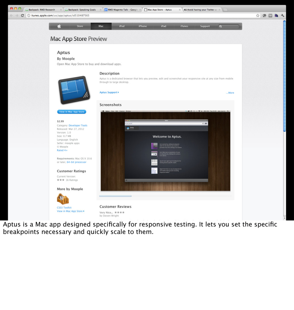 Aptus is a Mac app designed specifically for res...