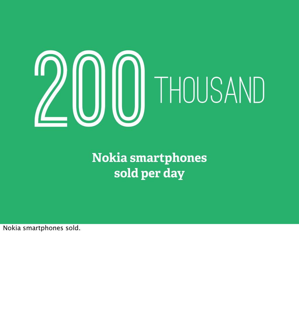 Nokia smartphones sold per day 200thousand Noki...