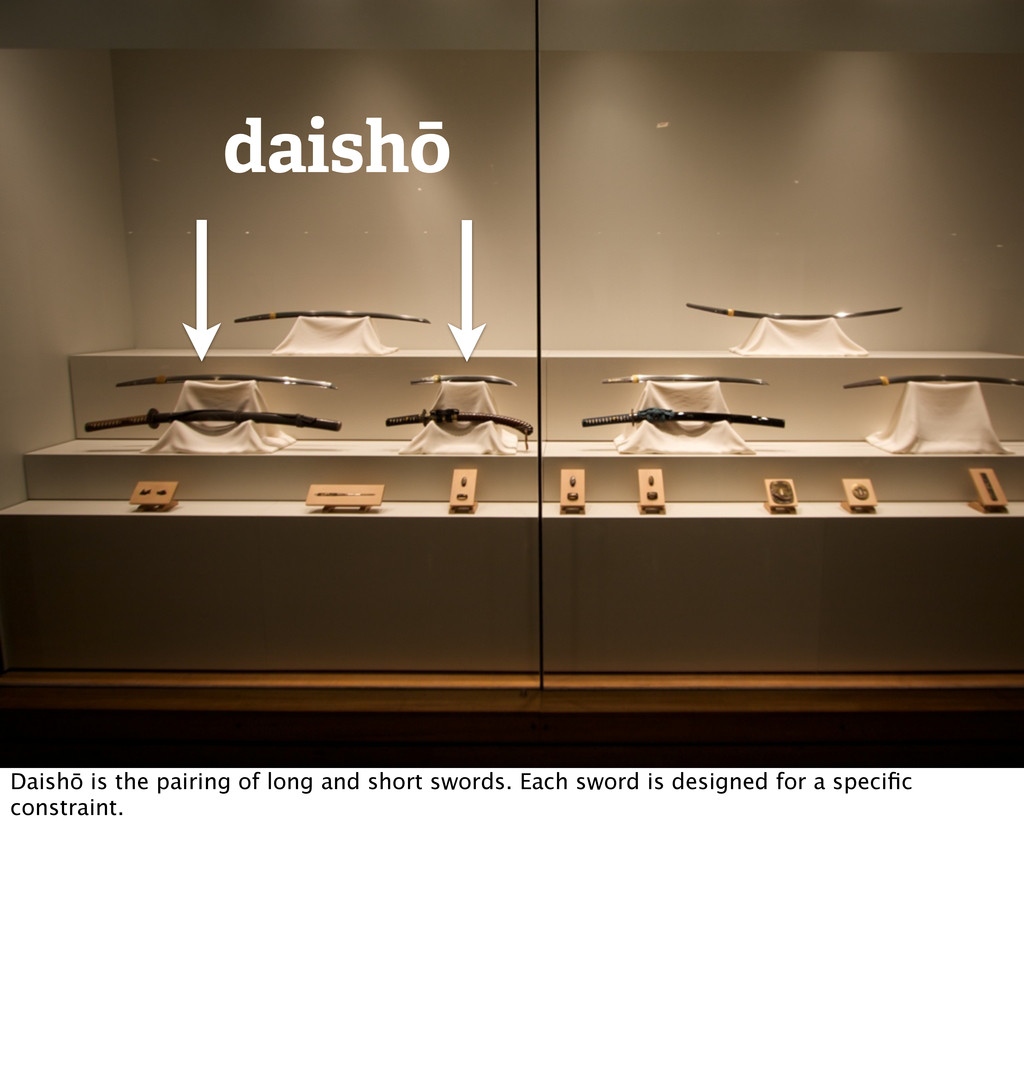 daishō Daishō is the pairing of long and short ...