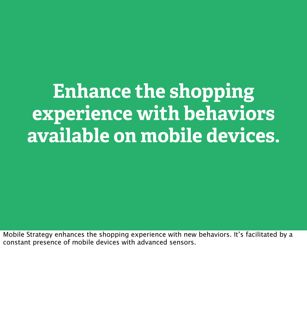 Enhance the shopping experience with behaviors ...