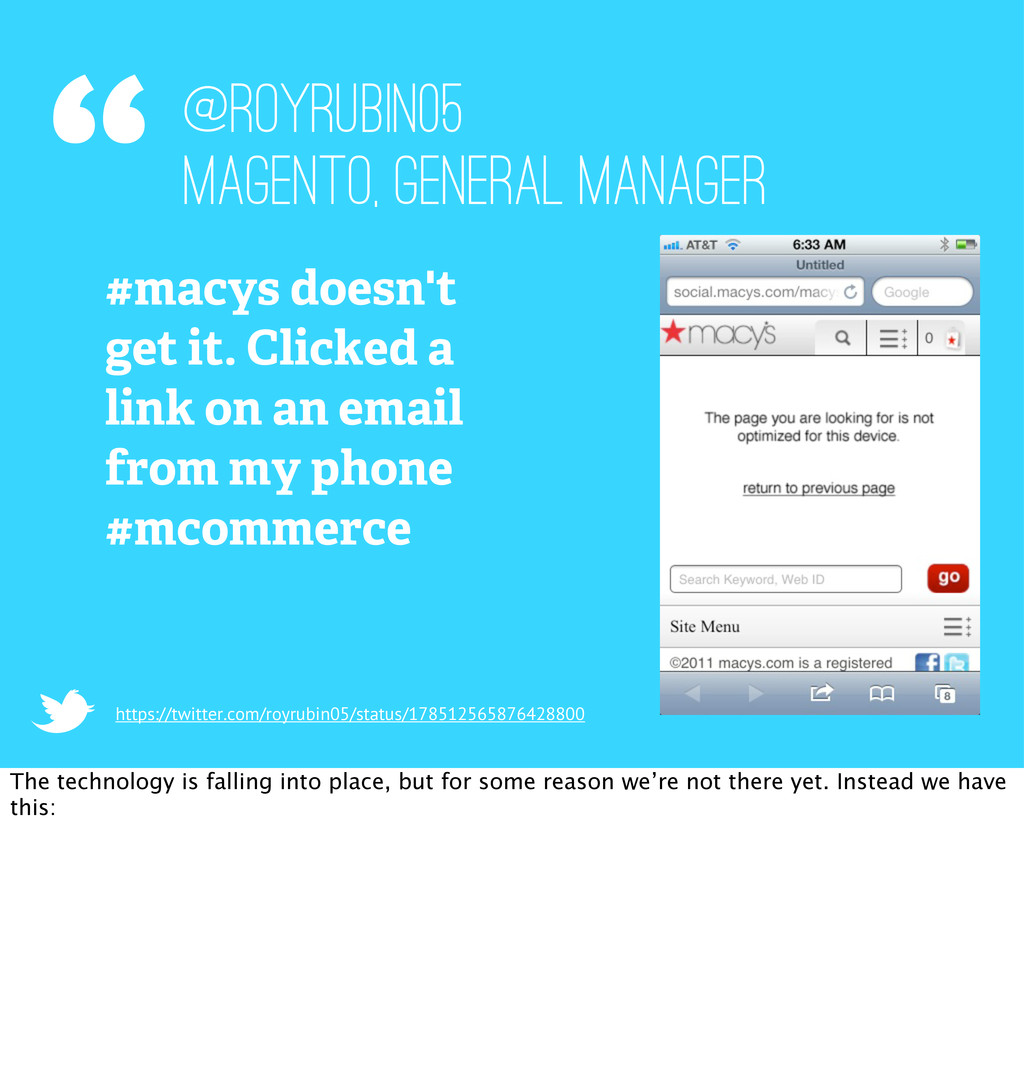 """"""" #macys doesn't get it. Clicked a link on an e..."""