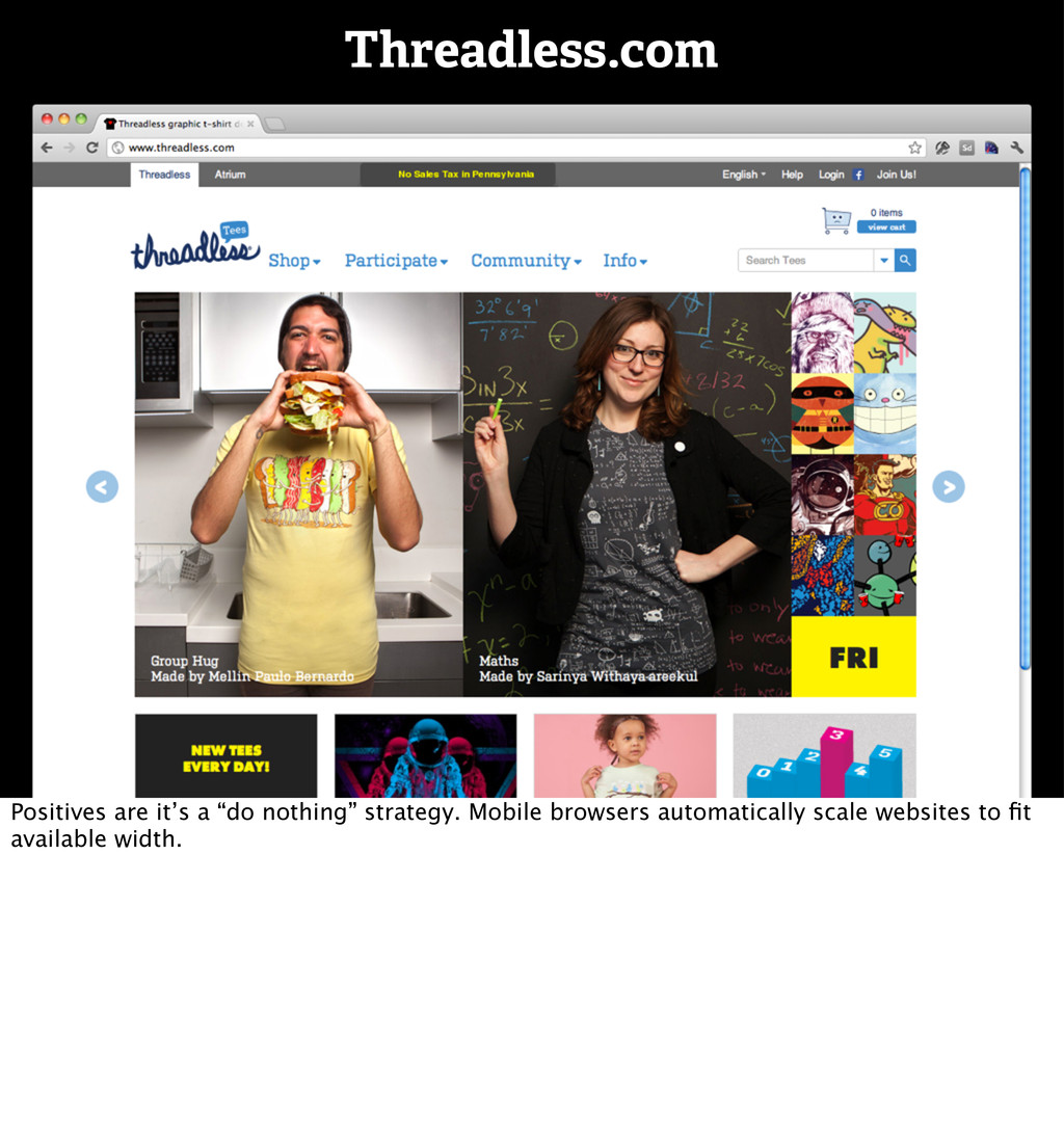 """Threadless.com Positives are it's a """"do nothing..."""