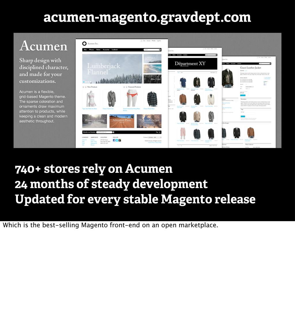 acumen-magento.gravdept.com 740+ stores rely on...