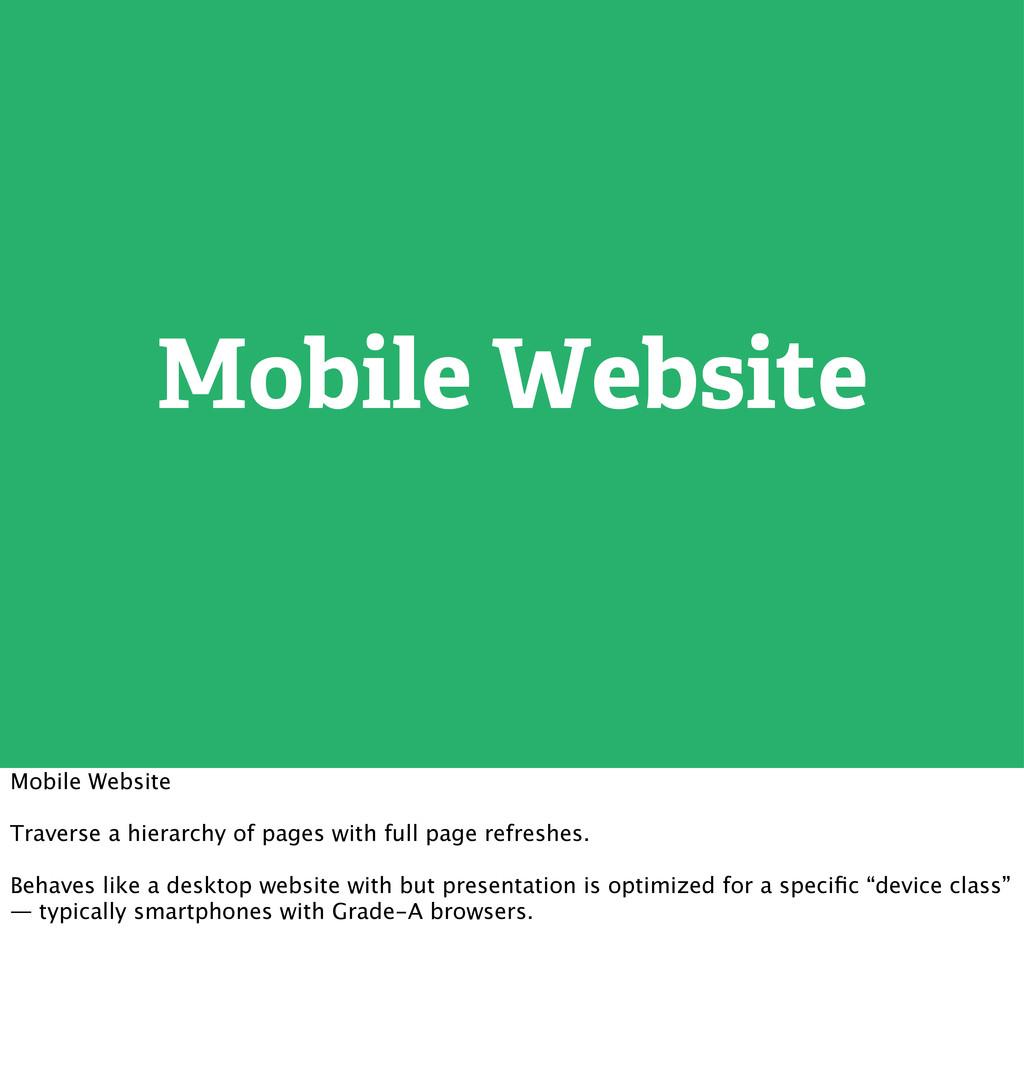 Mobile Website Mobile Website Traverse a hierar...