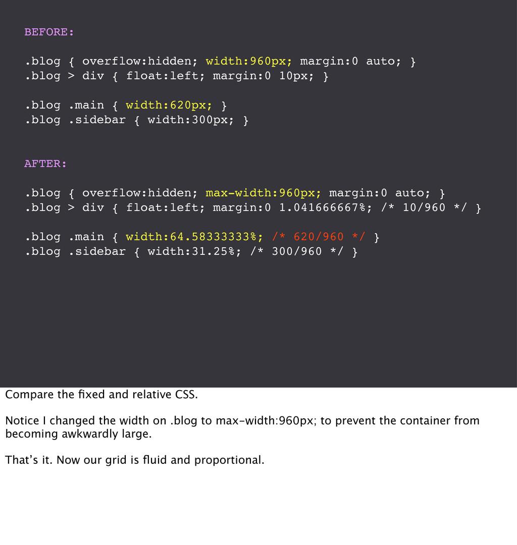BEFORE: .blog { overflow:hidden; width:960px; m...