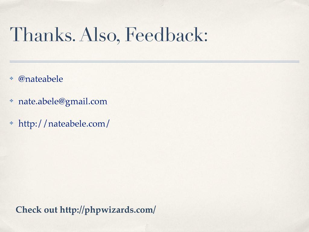 Thanks. Also, Feedback: ! @nateabele ! nate.abe...
