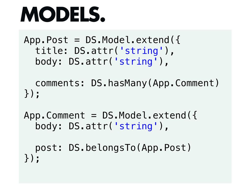 App.Post = DS.Model.extend({ title: DS.attr('st...