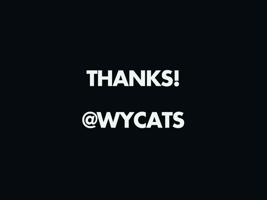 THANKS! @WYCATS
