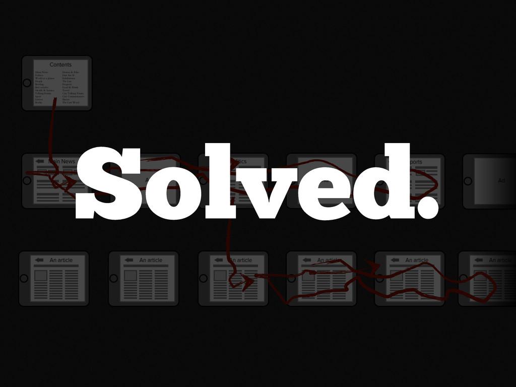 Solved.