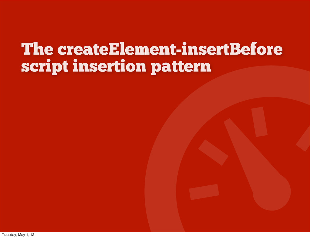 The createElement-insertBefore script insertion...
