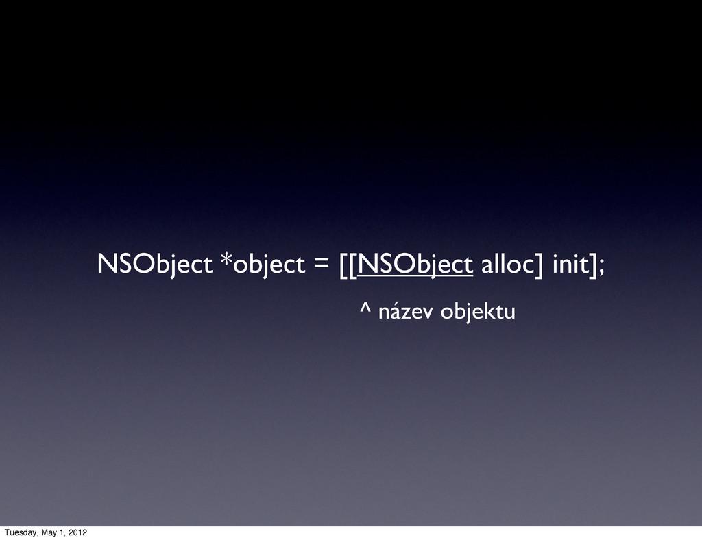 NSObject *object = [[NSObject alloc] init]; ^ n...