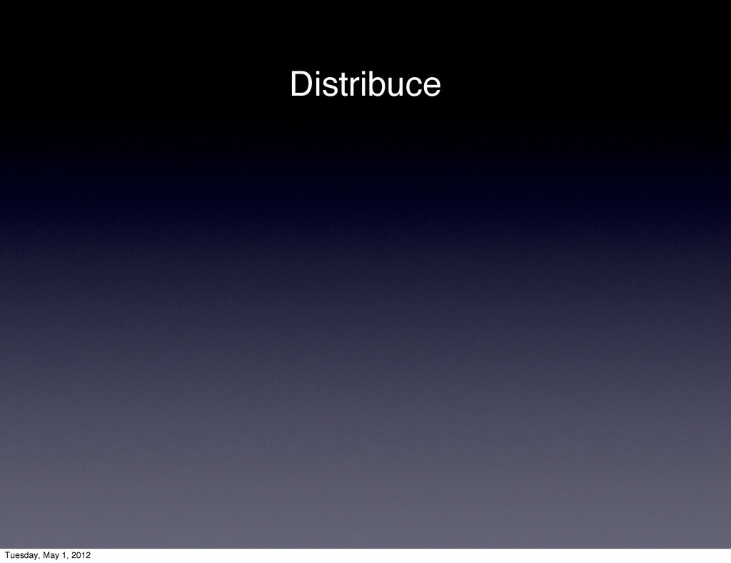 Distribuce Tuesday, May 1, 2012