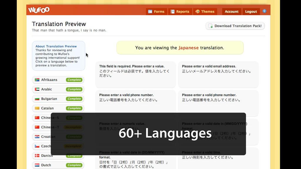 60+ Languages