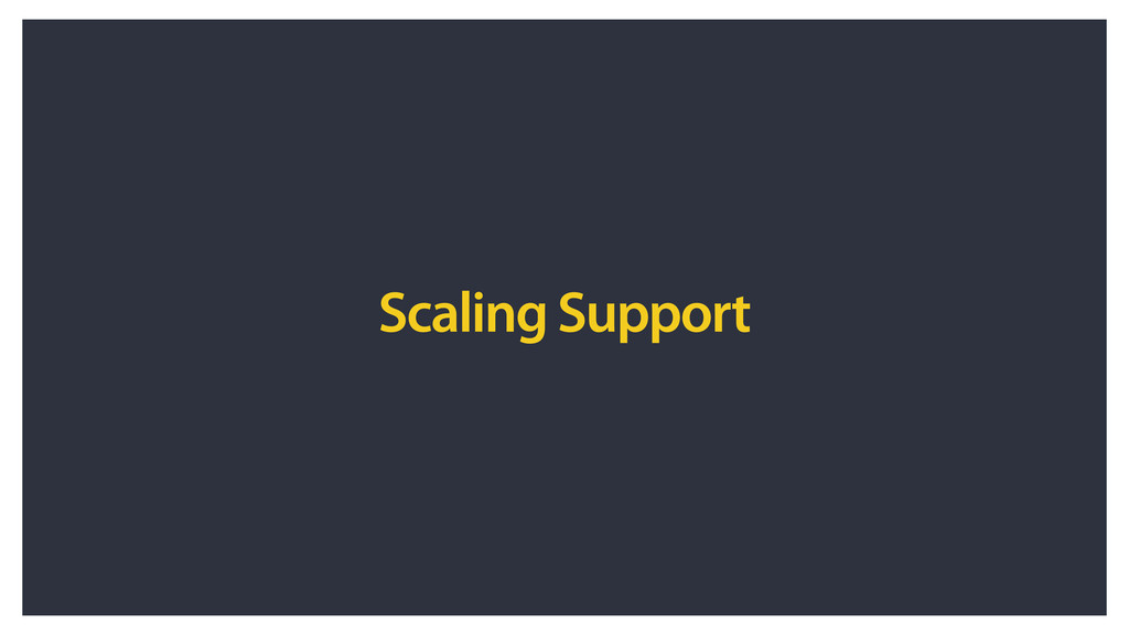 Scaling Support