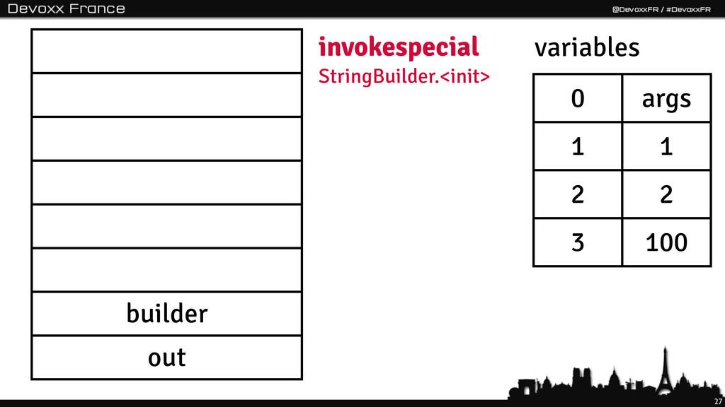 27 builder out invokespecial StringBuilder.<ini...