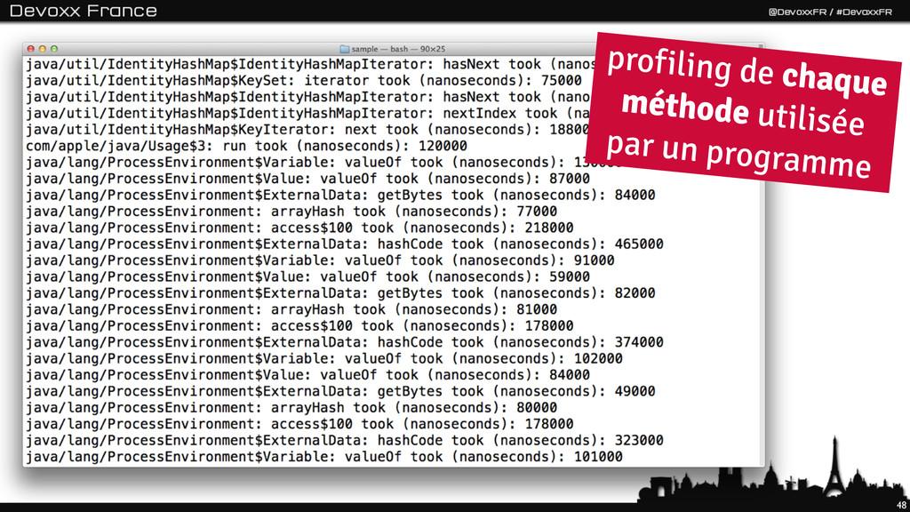 48 profiling de chaque méthode utilisée par un ...