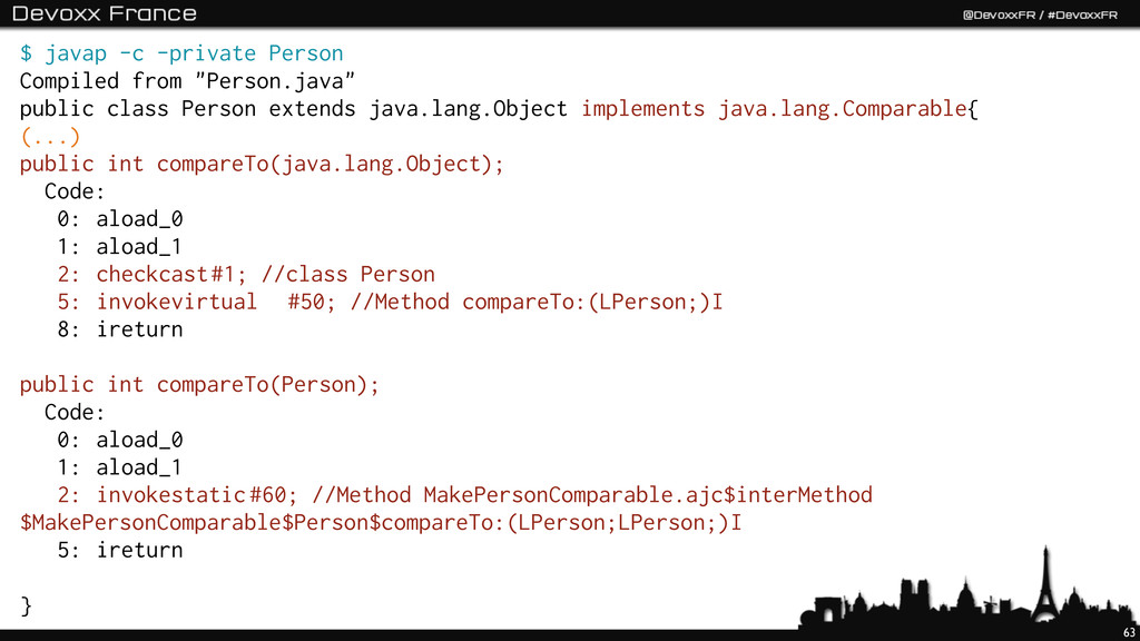 """63 $ javap -c -private Person Compiled from """"Pe..."""