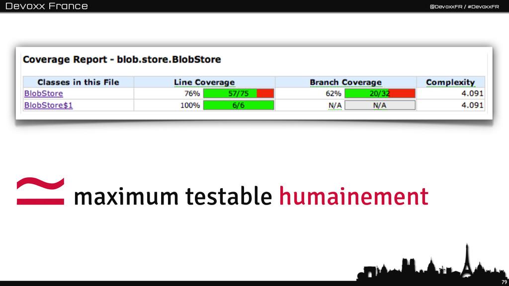 79 maximum testable humainement ≃