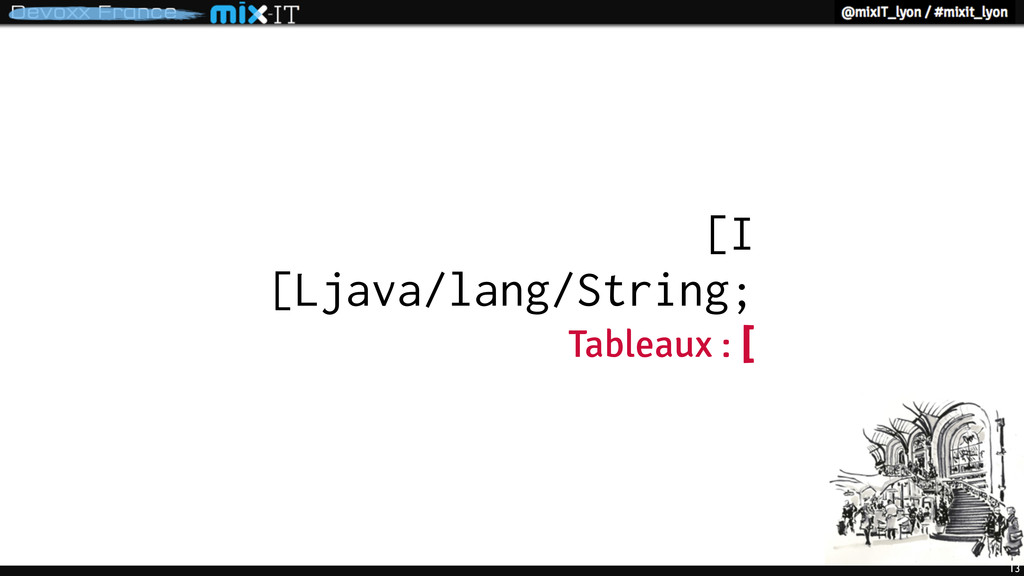13 [I [Ljava/lang/String; Tableaux : [
