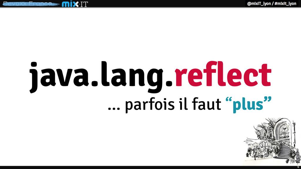 """6 java.lang.reflect ... parfois il faut """"plus"""""""