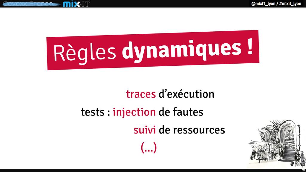 70 Règles dynamiques ! tests : injection de fau...