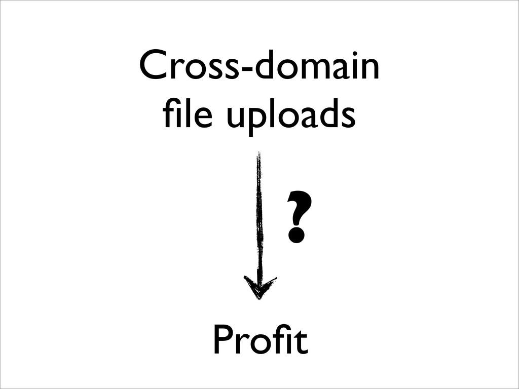 Cross-domain file uploads Profit ?