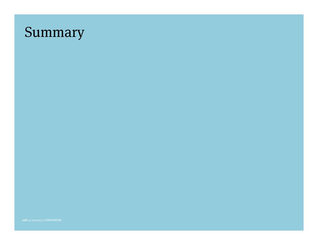 108 | 4/23/2012 | CONFIDENTIAL Summary