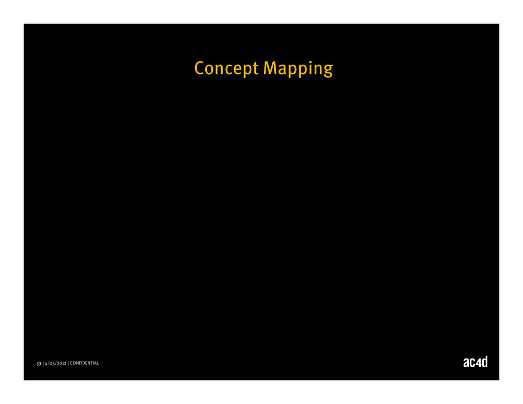 53 | 4/23/2012 | CONFIDENTIAL Concept Mapping