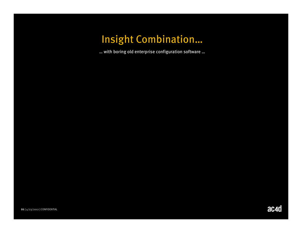 86 | 4/23/2012 | CONFIDENTIAL Insight Combinati...