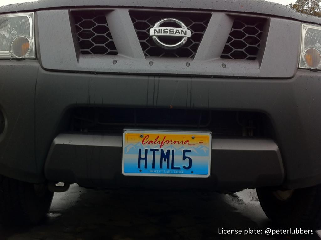License plate: @peterlubbers